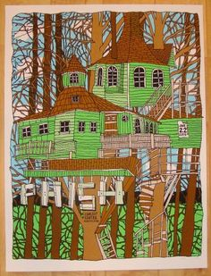 2010 Phish - Mansfield Silkscreen Concert Poster by Nate Duval