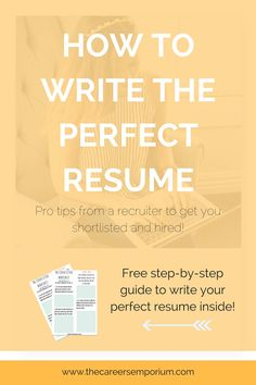 how to write a perfect resume objective examples included