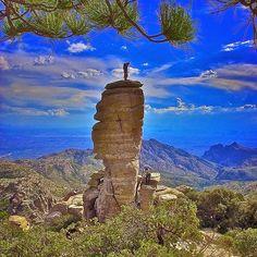 Rock Climbing Mt Lemon -- over looking Tucson, Arizona
