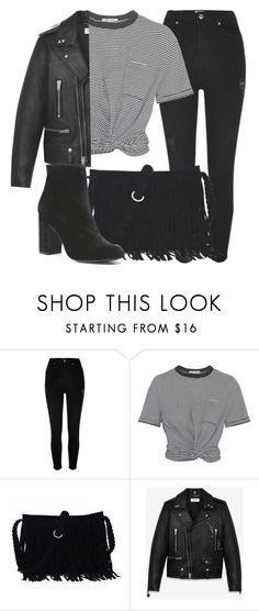 """Outfit #1686"" by lauraandrade98 on Polyvore featuring River Island, T By Alexander Wang, Yves Saint Laurent and Witchery"