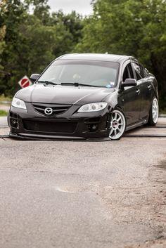 Bildresultat för black and pink mazda 3 Mazda Cars, Mazda 6, Jdm Cars, Fishing Accessories, Car Accessories, Car Expo, Mazda 3 Sedan, Rx7, Love Car