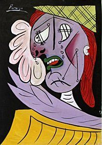 Weeping Woman - Oil Painting on Paper - Pablo Picasso : Lot 125