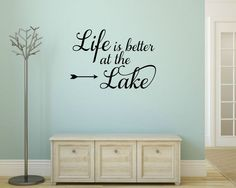 Custom Life Is Better At The Cabin Vinyl Decal Custom Cabin - Custom vinyl wall decals saying