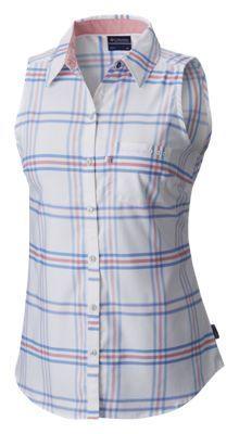 Columbia Super Harborside Woven Sleeveless Shirt for Ladies - Harbor Blue - XL