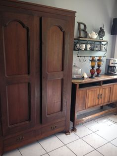 When we moved into our old farmhouse even though it had a giant kitchen one drawback was that there was no pantry. While a pantry was not a kitchen staple in the early when our farmhouse was … Kitchen Units, Old Kitchen, Kitchen Redo, Kitchen Pantry, Kitchen Remodel, Vintage Kitchen, Kitchen Ideas, Pantry Laundry Room, Pantry Inspiration