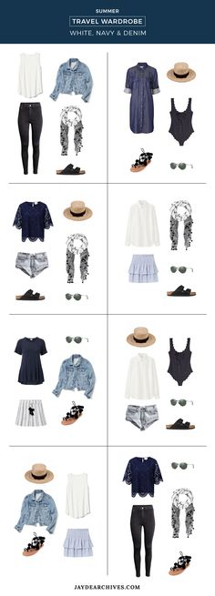 69 Best Ideas For Travel Outfit Summer Packing Capsule Wardrobe Holiday Wardrobe, Holiday Outfits, Travel Outfit Summer, Summer Outfits, Travel Wardrobe Summer, Summer Travel Packing, Beach Travel, Europe Packing, Vacation Packing