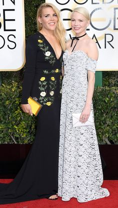 BUSY PHILIPPS & MICHELLE WILLIAMS  Golden Globes 2017 Best Dresses: The Most Gorgeous Red Carpet Gowns