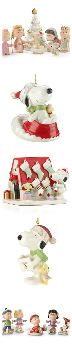 Create a festive scene with Peanuts figurines and ornaments from Lenox. New for this year is the Snoopy and Woodstock doghouse figurine that can be personalized! Start shopping at CollectPeanuts.com to support our site.
