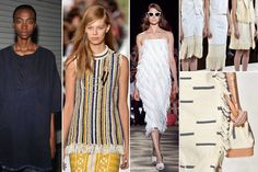 Fraying details are the best kind of deconstruction and this season, designers like Tory Burch, Rachel Comey and Tibi have embraced their appeal. They instantly make a garment cool—it's all about a controlled disaster.