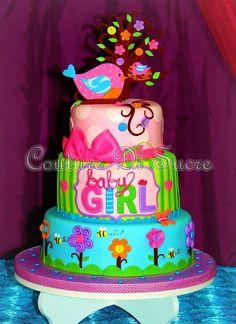Birds colors cake