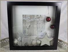 18 trendy Ideas wall collage ideas with shelves shadow box Christmas Box Frames, Christmas Shadow Boxes, Christmas Diy, Christmas Decorations, Diy Home Crafts, Easy Diy Crafts, Box Frame Ideas Diy Crafts, Diy Ideas, Craft Ideas