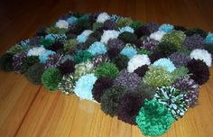 How To Make A Pom Pom Rug — Plus A Recycled Pom Pom Maker Tool  ***Some actual instructions