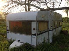 Cavalier in need of TLC Vintage Caravans, Mobile Homes, Barn Finds, Cavalier, Blue Bird, 1970s, British, Retro, Outdoor Decor
