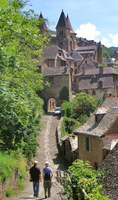 village of Conques - mid pyranese...