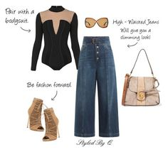 """High - Waisted Jeans!"" by quintan ❤ liked on Polyvore featuring Balmain, RED Valentino, Steve Madden, Chloé and Tom Ford"