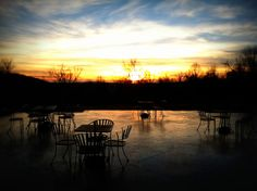 Sunset view from the patio of Cana Vineyard & Winery of Middleburg #vawine http://www.visitloudoun.org/Experience-Loudoun/Cana-Vineyards-and-Winery-of-Middleburg