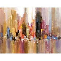 Portfolio 'City Spree' Large Printed Canvas Wall Art - Overstock™ Shopping - Top Rated Canvas