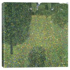 Add gallery-worthy appeal to your walls with this canvas print of Gustav Klimt'sLandscape Garden. Display it alone as an artful focal point or group...