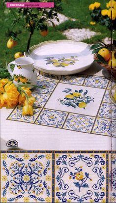 5 with lemon Cross Stitch Borders, Cross Stitch Designs, Cross Stitching, Cross Stitch Patterns, Embroidery Sampler, Cross Stitch Embroidery, Embroidery Patterns, Fun Crafts, Diy And Crafts