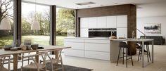 Mano | Designa själv ett vitt Mano-kök utan handtag hos Kvik