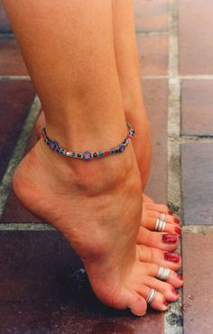 When you constantly have bare feet, its always nice to decorate them with anklets and toe rings!