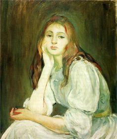 Julie Daydreaming, 1894  Berthe Morisot