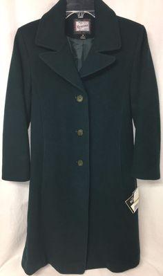 New Rothschild Juniper Green Dress Coat 100% Wool Girls Size 14 Long Lined NWT #Rothschild #DressCoat #DressyHoliday