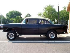 56 Chevy Gasser | Gasser Madness ~ Visitors' Rides ~ Fred Fitzgerald's 55 Chevy Gasser