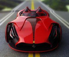 Electric Ferrari Millenio Concept Car