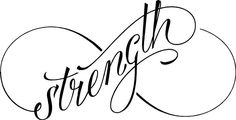 Strength Infinity Symbol: Lacy Bella   Personalized Vinyl Lettering and Wall Decals