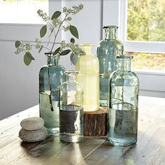 recycled glass jugs from west elm. but i feel like you would have to buy more than 2 to make it look good..