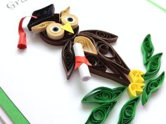 Handmade Quilled Graduation Congratulations Card. by Joscinta