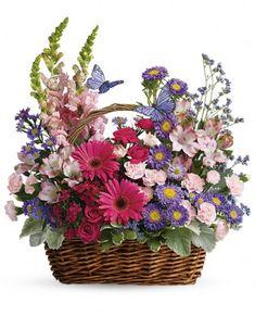73 best flower baskets images on pinterest floral arrangements country basket blooms in atlanta ga flowers of sandy springs mightylinksfo