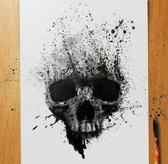 Skull Painting Face-illustration print on canvas, print on wood, print on steel . - Skull Painting Face-illustration print on canvas, print on wood, print on steel or print on paper - Tattoo Design Drawings, Skull Tattoo Design, Skull Tattoos, Body Art Tattoos, Sleeve Tattoos, Tattoo Designs, Skull Artwork, Skull Painting, Tattoo Avant Bras