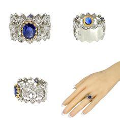 "Highkarat's Instagram profile post: ""🎉 New Arrival 🎉 Sapphire & Diamond Platinum 18K Gold Wide Band Landed in our shop. Tap for link @highkarat . . . . . #highkarat…"" Us Shop, Sapphire Diamond, 18k Gold, Profile, Band, Rings, Shopping, Instagram, Jewelry"