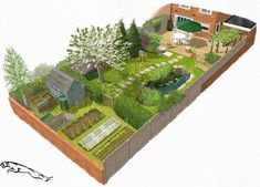 Eplan Landschaftsplan – Eplan Wassergarten Landsch… - New ideas Landscape Design Plans, Garden Design Plans, Home Garden Design, Small Garden Design, Small Garden Layout, Backyard Garden Design, Small Garden Plans, Narrow Garden, Decorative Garden Fencing
