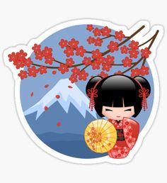 Japanese Quilts, Japanese Art, Korean Art, Asian Art, Kawaii Cookies, Manga Cute, Dibujos Cute, Girl Decor, Kokeshi Dolls