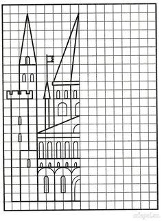 Рисование по клеточкам Geometric Formulas, Activities For Kids, Crafts For Kids, Art Handouts, Dinosaur Printables, Blackwork Patterns, Math Intervention, Cross Stitch Borders, Activity Sheets