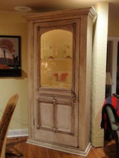 Possible transformations to do kitchen island on - Cabinet made from old doors ...