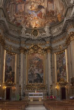 Church of Saint Ignatius of Loyola at Campus Martius (Chiesa di Sant'Ignazio di Loyola a Campo Marzio) Rome, Italy - Andrea Pozzo a Jesuite brother painted many of the frescos ...son to be  Museum Planet iPad tour................