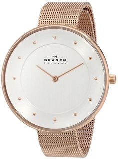 Women's Wrist Watches - Skagen Womens SKW2142 Gitte Rose Gold Mesh Watch *** Learn more by visiting the image link.