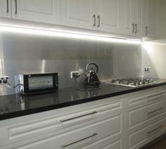 kitchen - metaline splashback