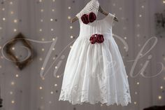 Φόρεμα βατίστα με τελειώματα κυπούρ δαντέλα-100%Βαμβάκι