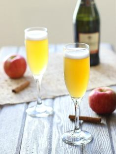 Use champagne and apple cider to make these spritzers.