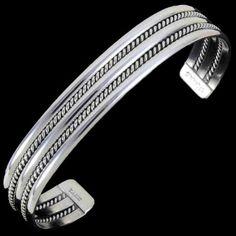 Native American Sterling Silver Cuff Bracelet 3228  | Alltribes