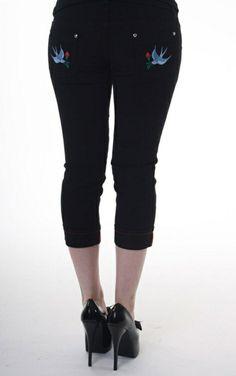 Jist Ladies Swallow Capri Jeans