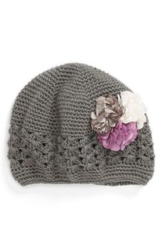 PLH Bows & Laces Crochet Hat (Baby Girls) available at #Nordstrom