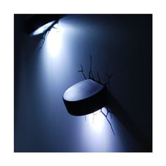 3D Deco Light ~~ Hockey Puck ~~ Looks like the Hockey Pucks have broken through the wall! ~~ Games Room / Kids Room
