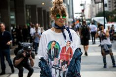 Street Style do NYFW - Setembro de 2016 | Wallpaper & Butter | Imagens…