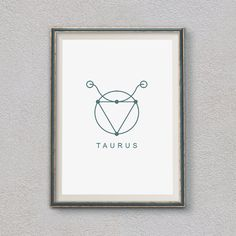Taurus Zodiac, Home decor, Printable Wall Art, Astrology Print, Painted Symbol, Astrology, Gift idea, INSTANT DOWNLOAD, Taurus Poster
